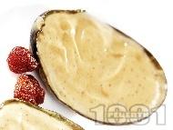 Плодов мус от банан, коняк и ром в авокадо (десерт)